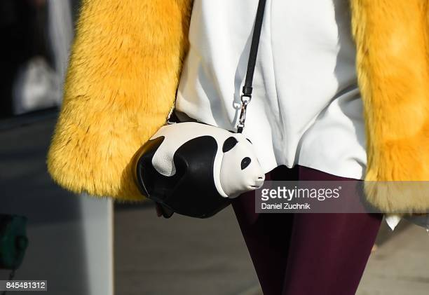 Lou Lou de Saison is seen wearing a DVF fur coat outside the DVF show during New York Fashion Week Women's S/S 2018 on September 10 2017 in New York...