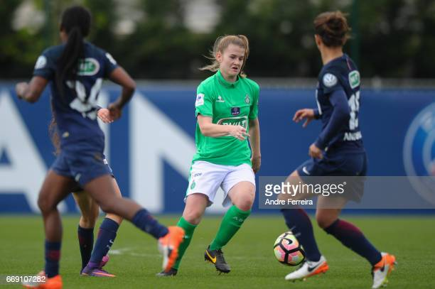 Lou Mery of Saint Etienne during the women's National Cup match between Paris Saint Germain PSG and AS Saint Etienne at Camp des Loges on April 16...