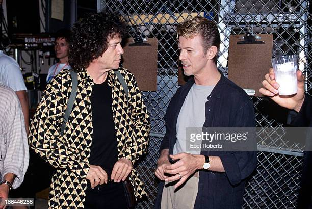 Lou Reed and David Bowie at CM J backstage at Alice Tully Hall in New York City on September 81995