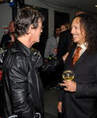 *EXCLUSIVE* Lou Reed and Kirk Hammett attend the 25th Anniversary Rock Roll Hall of Fame Concert at Madison Square Garden on October 30 2009 in New...