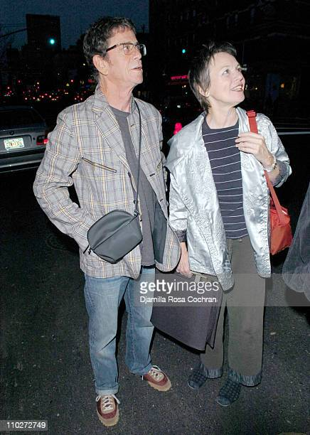 Lou Reed and Laurie Anderson during Stephen Petronio Benefit Event Opening Night of 'BLOOM' at the Joyce Theatre in New York City Arrivals at The...