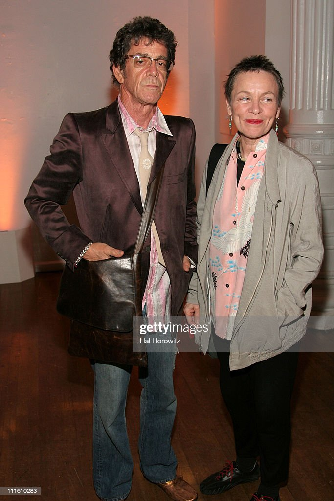 Lou Reed and Laurie Anderson during The Kitchen Spring Gala Benefit - May 23, 2007 at The Puck Building in New York City, New York, United States.