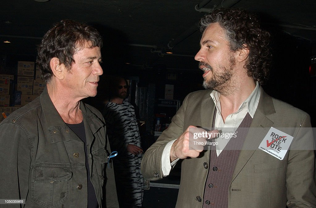 Lou Reed and Wayne Coyne during 10th Annual Rock the Vote Patrick Lippert Awards at Roseland Ballroom in New York City, NY, United States.