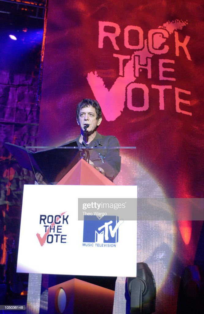 Lou Reed at the 10th Annual Rock the Vote Awards. during 10th Annual Rock the Vote Patrick Lippert Awards at Roseland Ballroom in New York City, NY, United States.