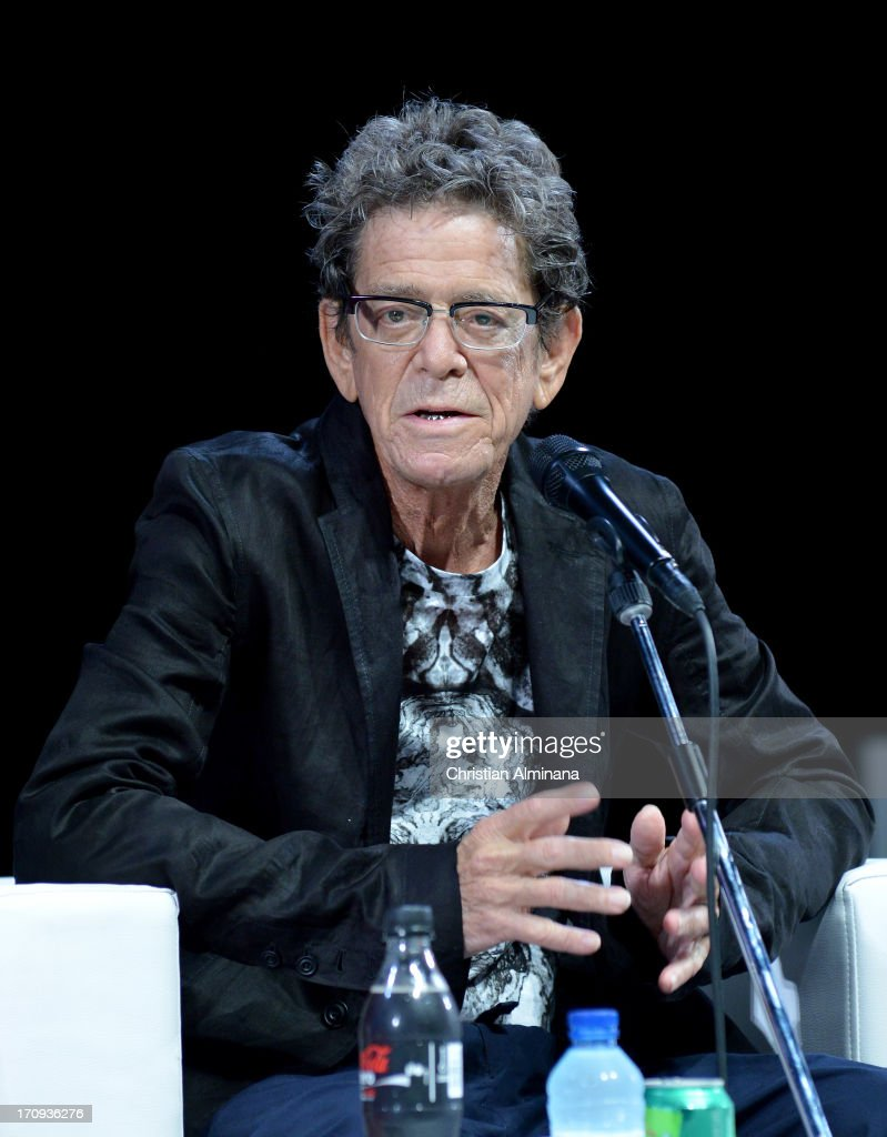 <a gi-track='captionPersonalityLinkClicked' href=/galleries/search?phrase=Lou+Reed&family=editorial&specificpeople=206117 ng-click='$event.stopPropagation()'>Lou Reed</a> attends the Grey Group Seminar during the Cannes Lions International Festival of Creativity at Palais des Festivals on June 20, 2013 in Cannes, France.