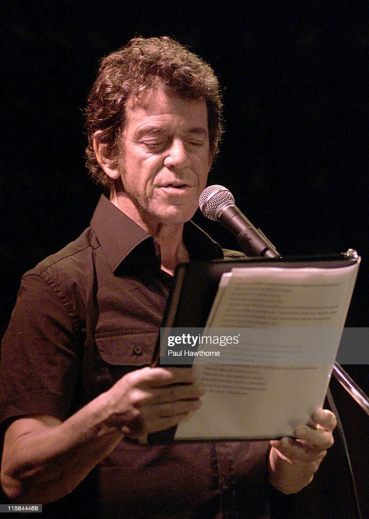 Lou Reed during 2003 Howl! Festival - Lou Reed And Friends, FEVA Benefit Reading - New York City at Joe's Pub in New York, New York, United States.