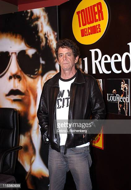 Lou Reed during Lou Reed InStore Signing of 'The Raven' and 'NYC Man the Collection' at Tower Records Broadway and West 4th Street in New York City...