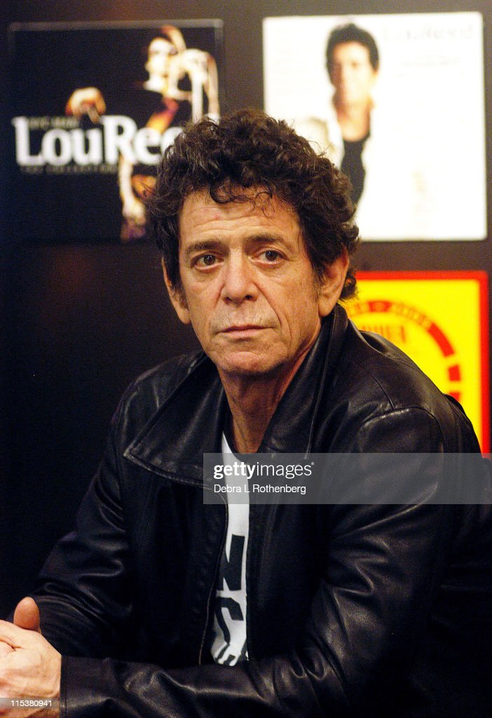 Lou Reed during Lou Reed In-Store Signing of 'The Raven' and 'NYC Man: the Collection' at Tower Records, Broadway and West 4th Street in New York City, New York, United States.