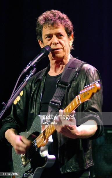 Lou Reed during Lou Reed Live in Concert Madrid at Sogecable Studios in Madrid Spain
