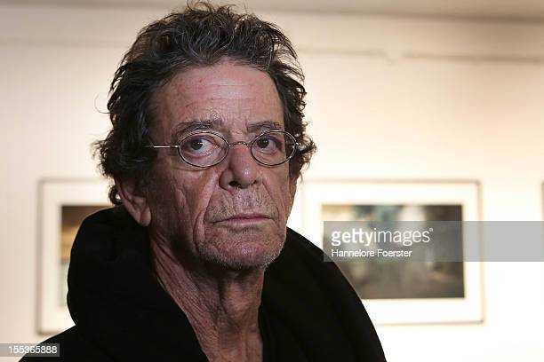 Lou Reed looks on during his photo exhibition at Frank Landau Gallery on November 3 2012 in Frankfurt am Main Germany