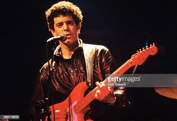 Lou Reed performing at the Bottom Line in New York City on February 251983