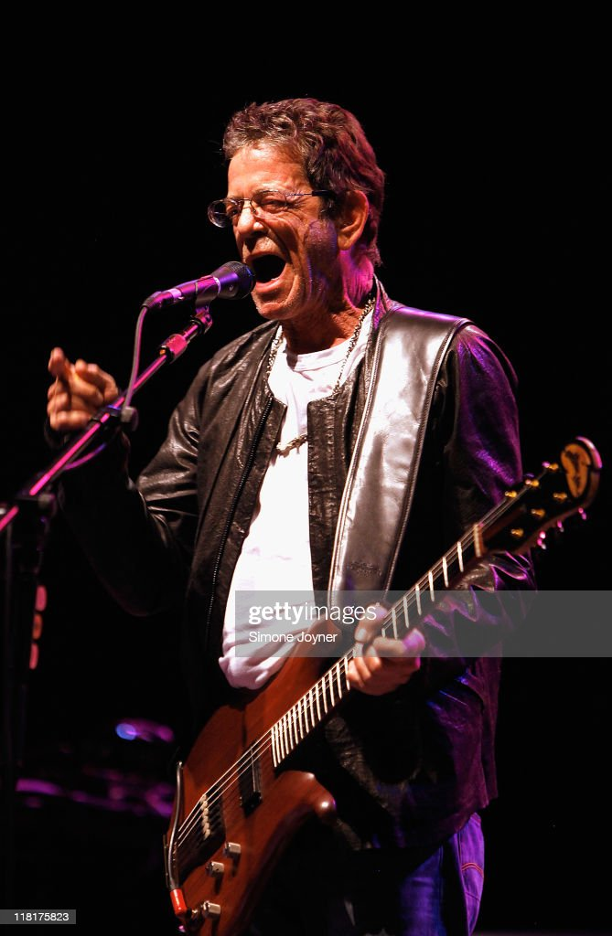 Lou Reed performs live on stage at Hammersmith Apollo on July 4, 2011 in London, United Kingdom.