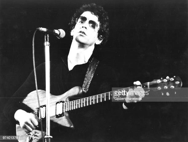 Lou Reed performs live on stage in Amsterdam Netherlands in April 1977