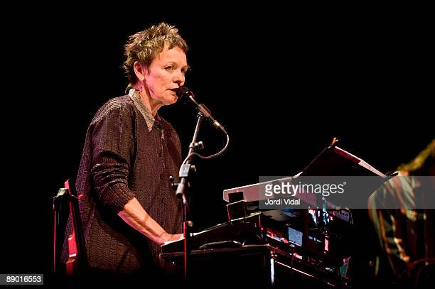 Lou Reed performs on stage at the Portaferrada Festival at De Guixols on July 10 2009 in Girona Spain