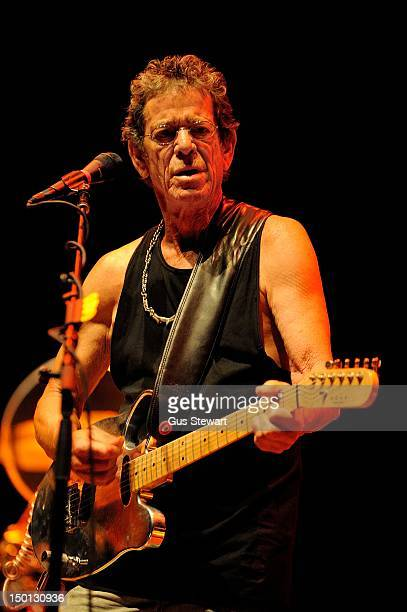 Lou Reed performs on stage for Antony's Meltdown at Southbank Centre on August 10 2012 in London United Kingdom
