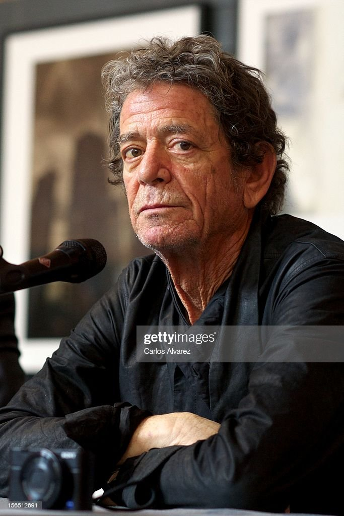 Lou Reed presents his photography exhibition at the Matadero cultural center on November 16, 2012 in Madrid, Spain.