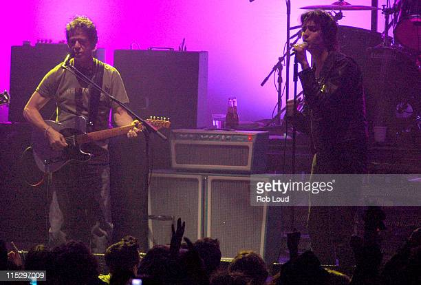 Lou Reed with The Strokes during Rolling Stone Magazine Celebrates Its 1000th Issue Concert at Hammerstein Ballroom in New York City New York United...