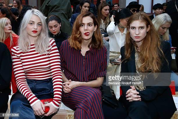 Lou RoyLecollinet Luna PicoliTruffaut and Agathe Bonitzer attend the Sonia Rykiel show as part of the Paris Fashion Week Womenswear Spring/Summer...