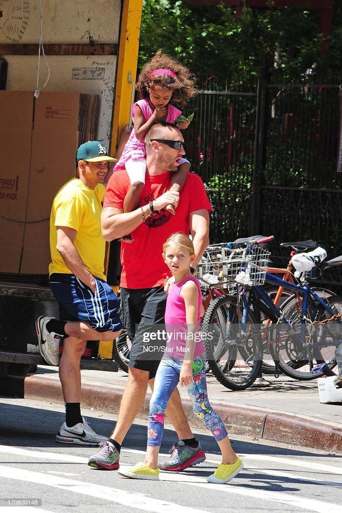 Lou Samuel, Martin Kristen and Leni Samuel as seen on June 19, 2013 in New York City.