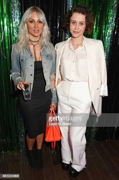 Lou Teasdale and Billie JD Porter attend the launch of The Curtain in Shoreditch on May 11 2017 in London England
