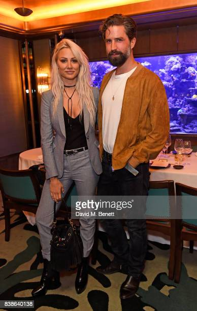 Lou Teasdale and Jack Guinness at Jack Guinness hosted dinnerin association with Haig Club Clubman at Sexy Fish Mayfair on August 24 2017 in London...