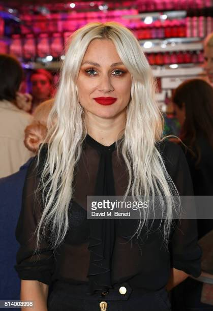 Lou Teasdale attend the launch of Bleach London's new makeup and hair collections on July 13 2017 in London England