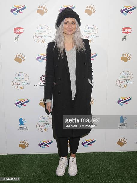 Lou Teasdale attends a screening of We're Going on a Bear Hunt at the Empire Leicester Square in central London