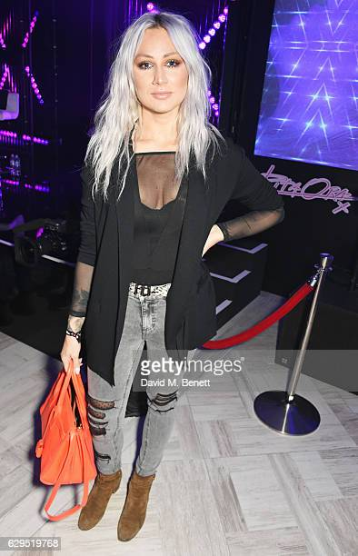 Lou Teasdale attends an intimate gig by Rita Ora at the newly relaunched Tezenis store at Oxford Circus crossing to celebrate Rita's recent lingerie...