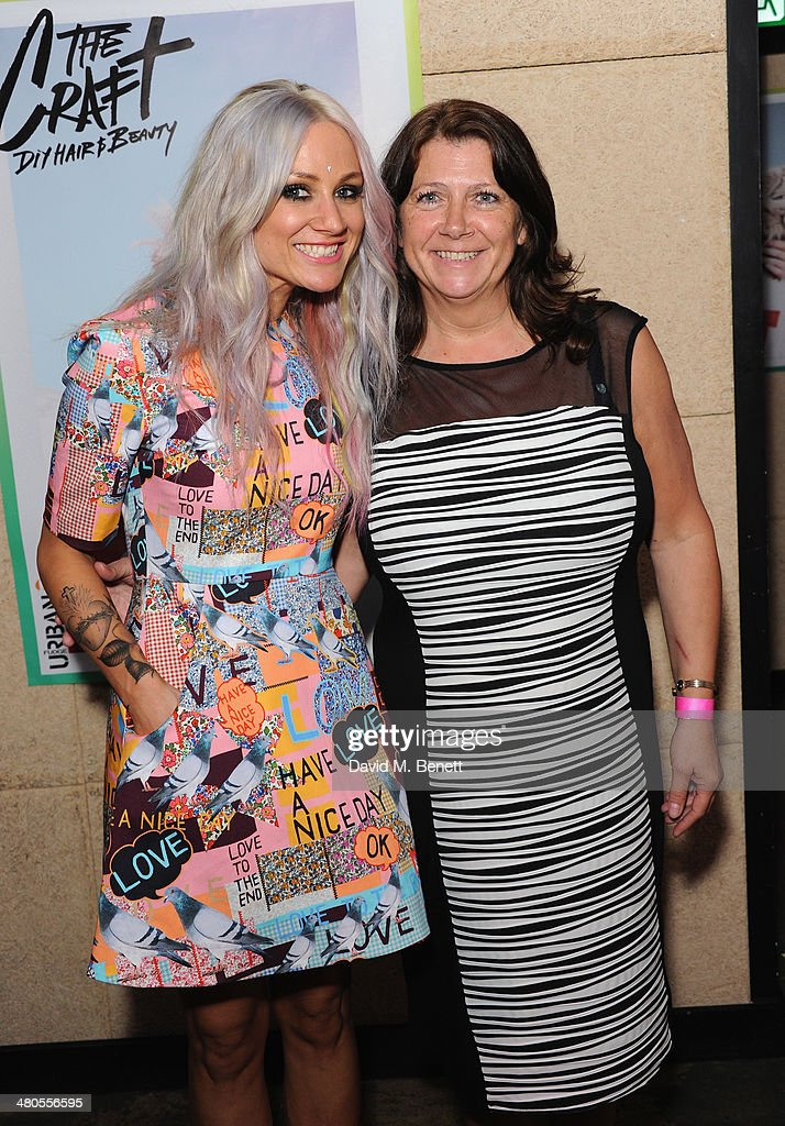 Lou Teasdale with her mother attend the Fudge Urban Lou Teasdale Book Launch party on March 25, 2014 in London, United Kingdom.