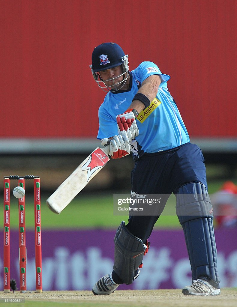 <a gi-track='captionPersonalityLinkClicked' href=/galleries/search?phrase=Lou+Vincent&family=editorial&specificpeople=224005 ng-click='$event.stopPropagation()'>Lou Vincent</a> of Aces drives during the Karbonn Smart CLT20 match between Auckland Aces and Perth Scorchers at SuperSport Park on October 23, 2012 in Pretoria, South Africa.