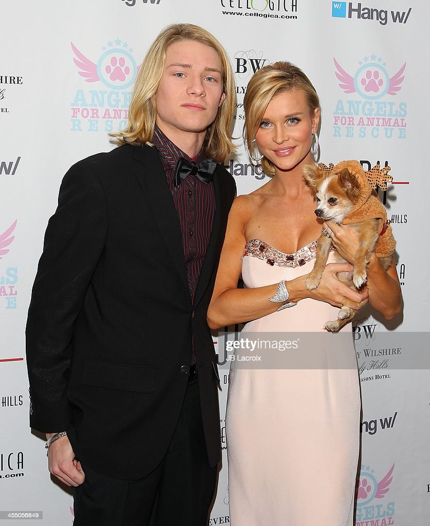 Lou Wegner and <a gi-track='captionPersonalityLinkClicked' href=/galleries/search?phrase=Joanna+Krupa&family=editorial&specificpeople=224038 ng-click='$event.stopPropagation()'>Joanna Krupa</a> attend the Angels for Animal Rescue Benefit held at Jason Of Beverly Hills on December 10, 2013 in Beverly Hills, California.