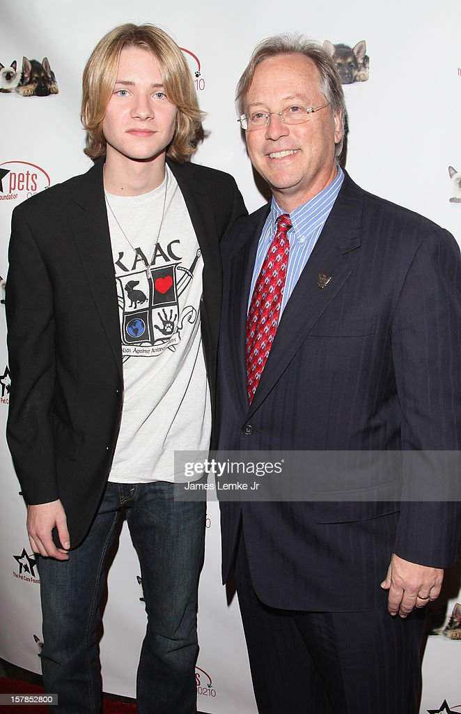 Lou Wegner and Mayor William W. Brien attends the Follow The Stars/Adopt A Pet 2013 Rose Parade Float Unveiling held at the Beverly Hills City Hall on December 6, 2012 in Beverly Hills, California.