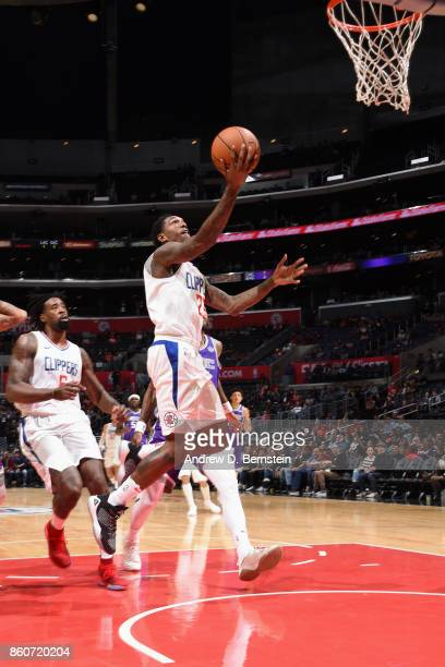 Lou Williams of the LA Clippers goes to the basket against the Sacramento Kings on October 12 2017 at STAPLES Center in Los Angeles California NOTE...