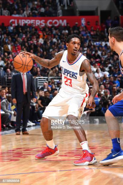 Lou Williams of the LA Clippers handles the ball during the game against the Philadelphia 76ers on November 13 2017 at STAPLES Center in Los Angeles...