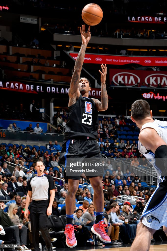 Lou Williams #23 of the LA Clippers shoots the ball against the Orlando Magic on December 13, 2017 at Amway Center in Orlando, Florida.