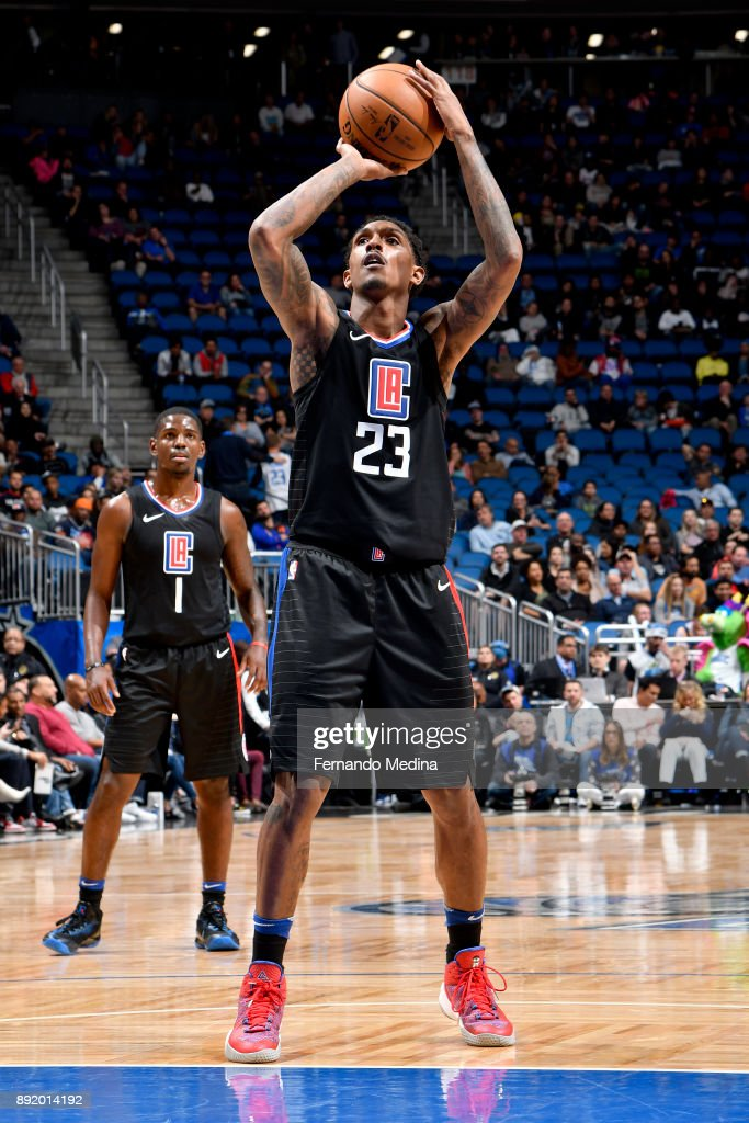 Lou Williams #23 of the LA Clippers shoots the ball from the free-throw line during the game against the Orlando Magic on December 13, 2017 at Amway Center in Orlando, Florida.