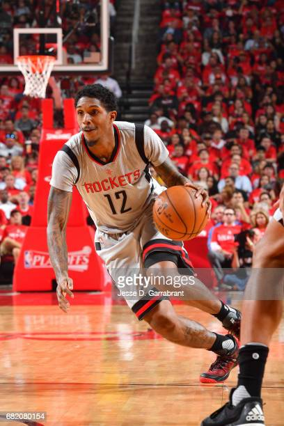 Lou Williams of the Houston Rockets handles the ball during the game against the San Antonio Spurs during Game Six of the Western Conference...