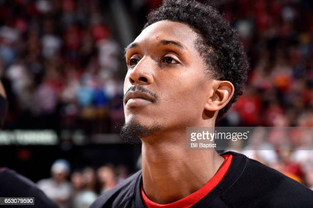 Lou Williams of the Houston Rockets is seen before the game against the Indiana Pacers on February 27 2017 at the Toyota Center in Houston Texas NOTE...