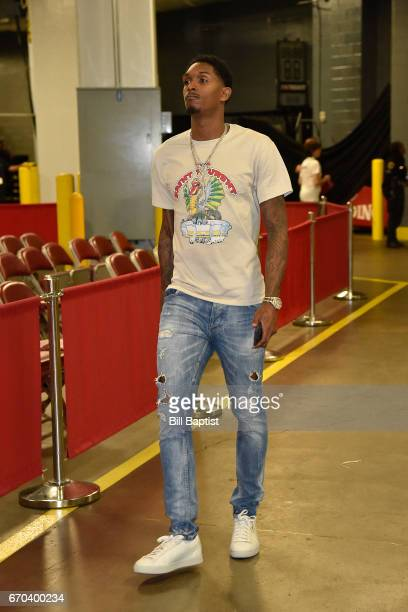 Lou Williams of the Houston Rockets is seen before the game against the Oklahoma City Thunder during Game Two of the Western Conference Quarterfinals...