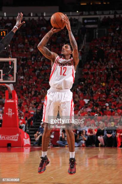 Lou Williams of the Houston Rockets shoots the ball against the Oklahoma City Thunder in Game Five of the Western Conference Quarterfinals of the...