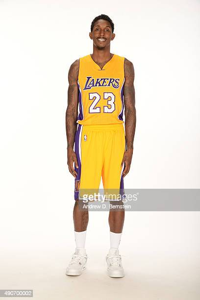 Lou Williams of the Los Angeles Lakers poses for a portrait during media day at Toyota Sports Center on September 28 2015 in El Segundo California...