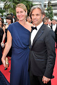 Louana and Paul Belmondo at the premiere of 'The Conquest' during the 64th Cannes International Film Festival