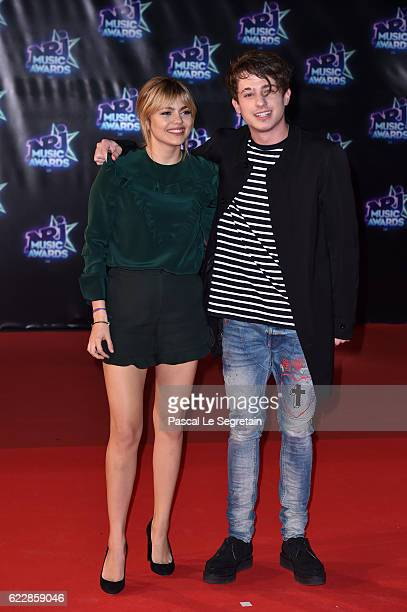 Louane Emera and Charlie Puth attend the 18th NRJ Music Awards at Palais des Festivals on November 12 2016 in Cannes France
