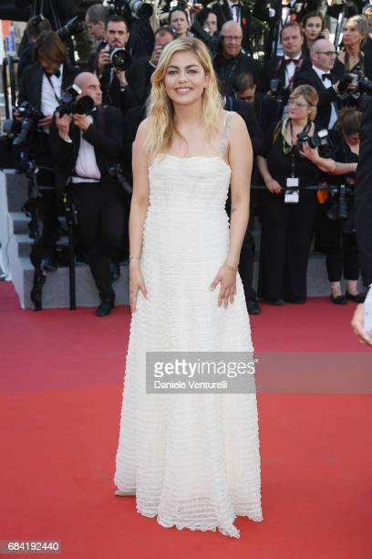 Louane Emera attends the 'Ismael's Ghosts ' screening and Opening Gala during the 70th annual Cannes Film Festival at Palais des Festivals on May 17...
