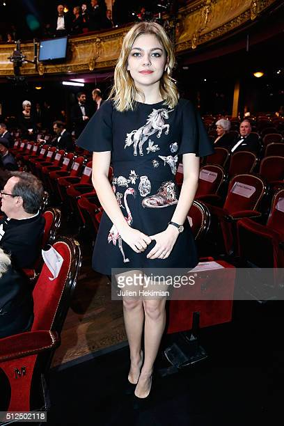 Louane Emera on stage during The Cesar Film Award 2016 at Theatre du Chatelet on February 26 2016 in Paris France