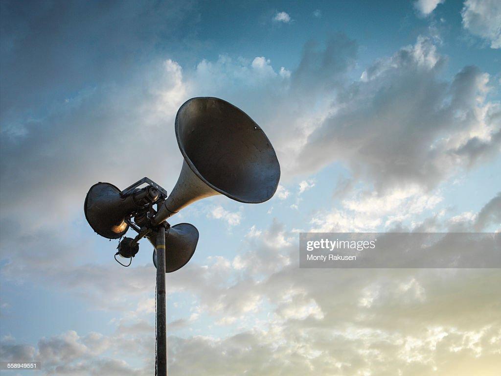 Loud speaker against sky