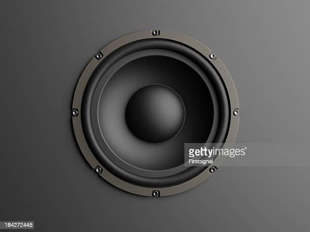 Loudspeaker sur fond gris