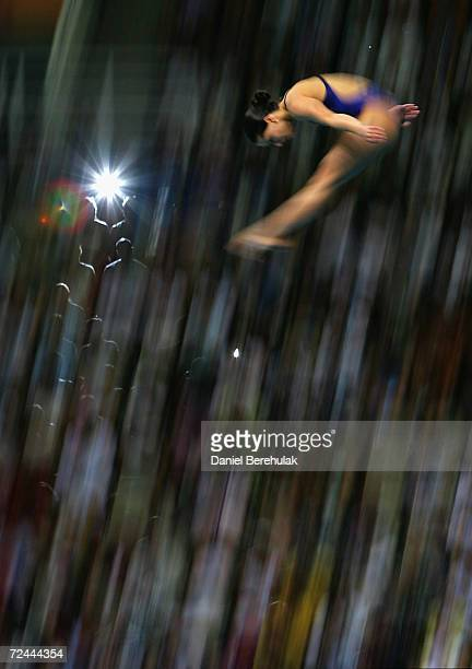 Loudy Tourkey of Australia competes in the women's diving 10 metre platform semifinal on August 21 2004 during the Athens 2004 Summer Olympic Games...