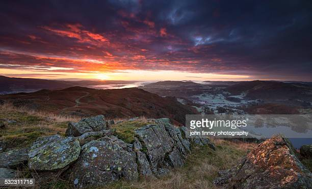 Loughrigg sunrise, Lake District