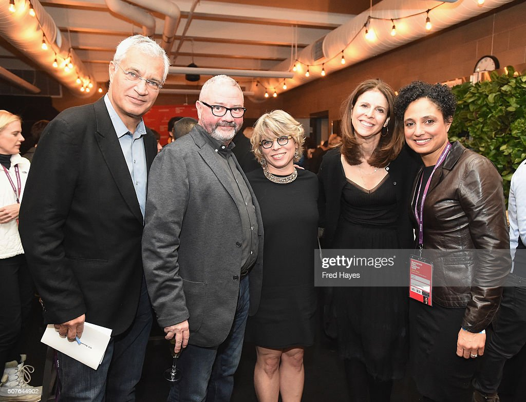 Louie Psihoyos Simon Kilmurry Jill Lepore Amy Ziering and Shola Lynch attend the Sundance Film Festival Awards Ceremony Reception during the 2016...